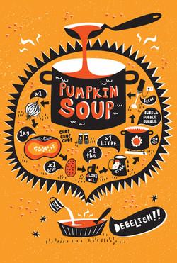 Pumpkin Soup illustrated recipe