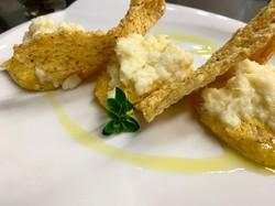 Baccalà con chips di polenta