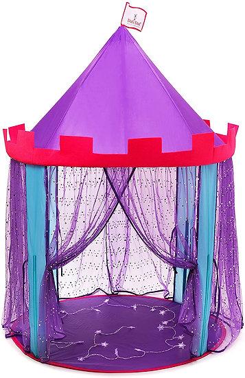 DafiDaf Play Tent Princess Castle for Girls + Bonus Fairy Lights