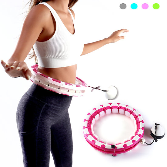 Smart Adjustable Hula Hoop For Weight Loss - Pink