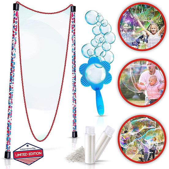 Giant Bubbles Kit: Perfect Kids Outdoor Toys - Fun Bubble Making Set