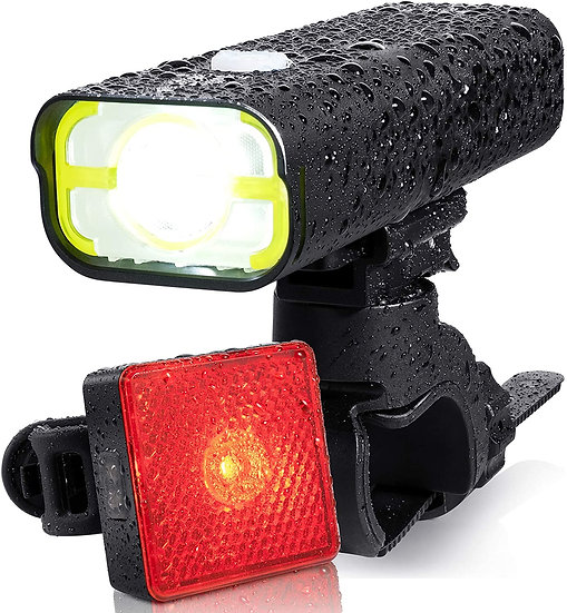 BrightRoad 2500mAh CREE XPL LED Bike Headlight and Smart Back Bike light Set