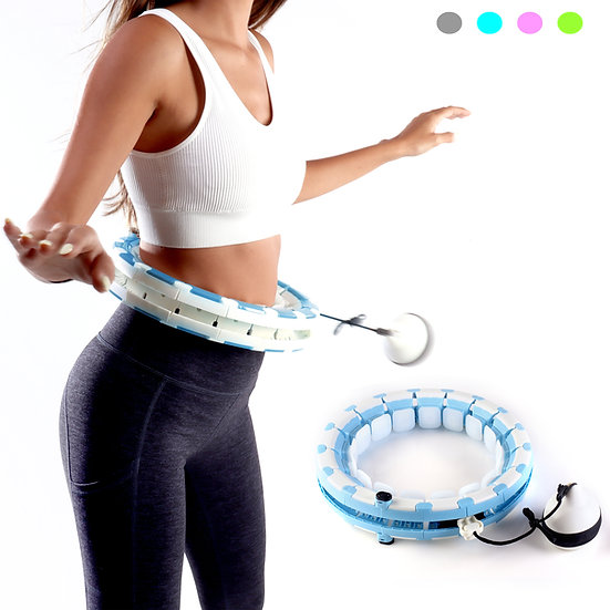 Smart Adjustable Hula Hoop For Weight Loss - Blue