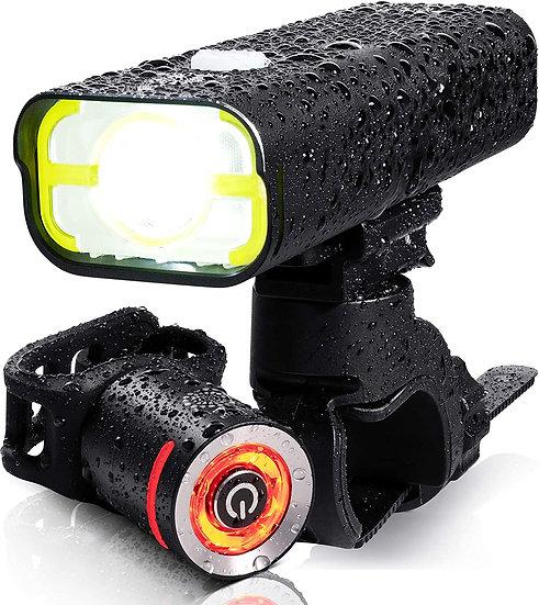 BrightRoad 2500mAh CREE XPL LED Bike Headlight, USB Rechargeable Bike Lights Fro