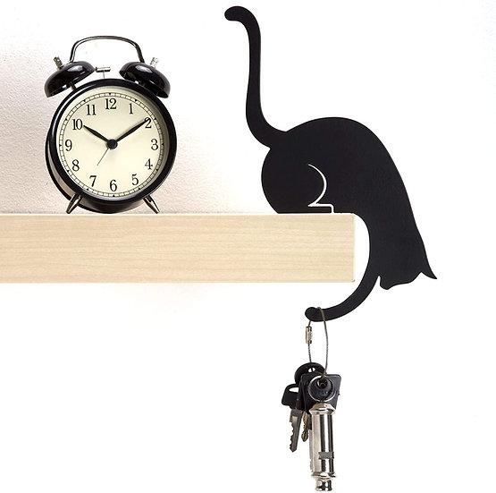 Black Metal Cat Hanger