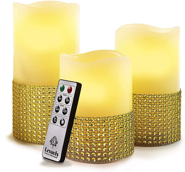 Gold Flameless Candles set
