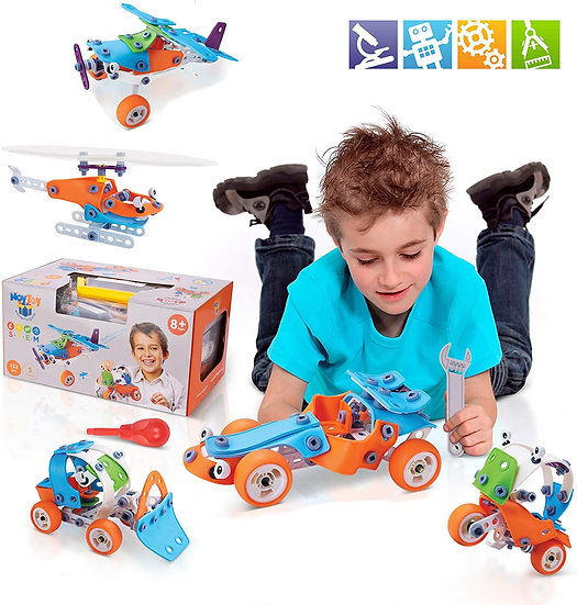 STEM Learning Toy Set for 8 - 12 Year Old Boys and Girls - 132 PCS