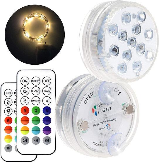 LED Lights for Inground Pool 2Pcs Batteries
