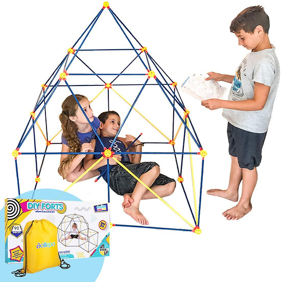 Fort Building Kit for Kids for Boys and Girls - 90 Pieces