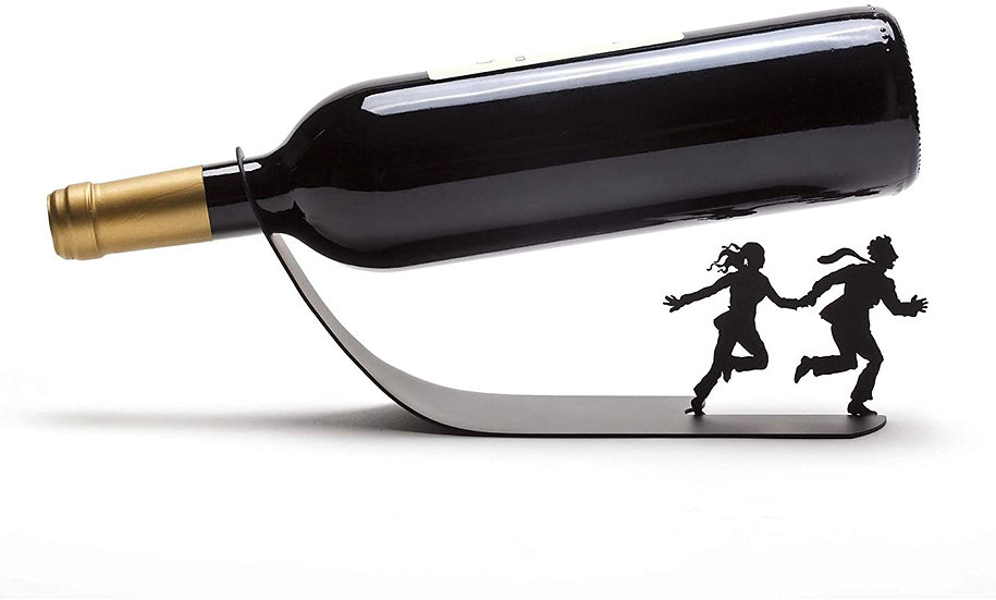 Black Metal Wine Bottle Holder