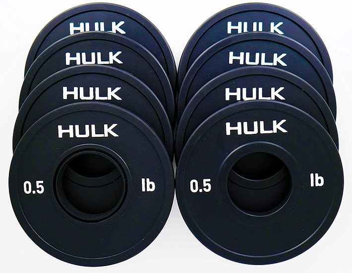 Hulk Fractional Weight Plates - Micro Weight Plates for Olympic Barbell or Dumbb