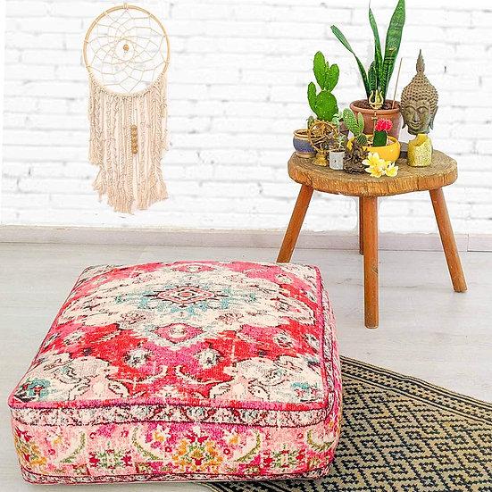 Mandala Life ART Bohemian Yoga Decor Floor Cushion Cover- Color: Red