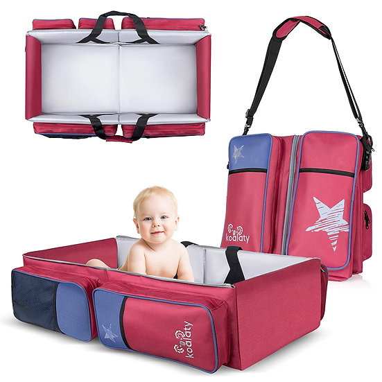 Koalaty 3-in-1 Red Universal Infant Travel Bag