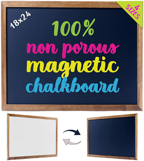 "Cedar Markers 24""x18"" Best Homeschool Big Chalkboard with Wood Frame"