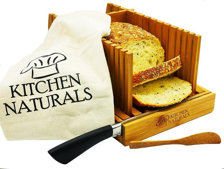 Premium Bamboo Foldable Bread Slicer