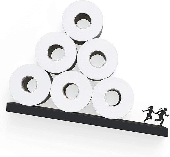 Toilet Paper Storage - Avalanche Shelf for Toilet Paper Rolls