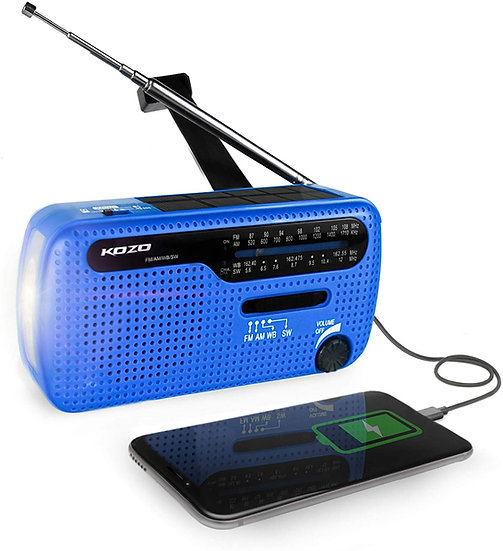 Best NOAA Weather Radio for Emergency by Kozo - Blue