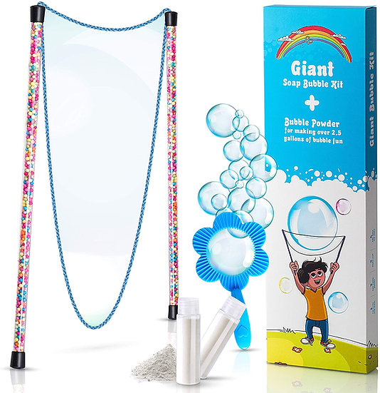 Giant Bubbles Kit: Complete Fun Bubble Making Set