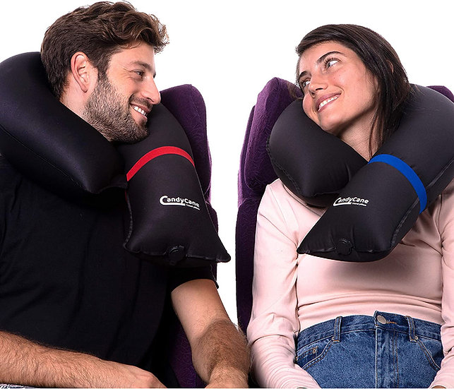 2Pack Inflatable Travel Pillows - Ultra Compact and Modular