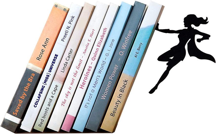 Decorative Bookends for Shelf or Desk - Supergirl Book End