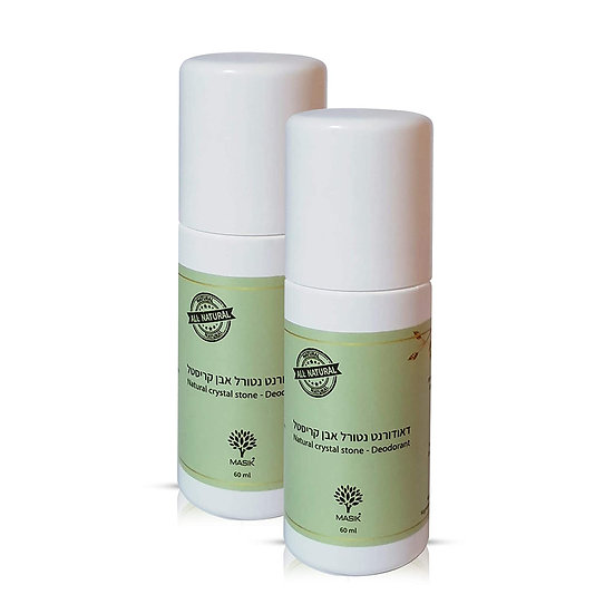 Natural Crystal Stone Deodorant Roll on (2 Pack)