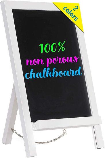 "Cedar Markers 15""x10"" Wood Framed Chalkboard. Mini Chalkboard Signs with Chain"