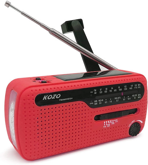 Best NOAA Weather Radio for Emergency by Kozo - Red