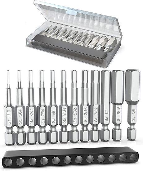 Allen Wrench Drill Bit Set (Premium 12pc Complete SAE Set)