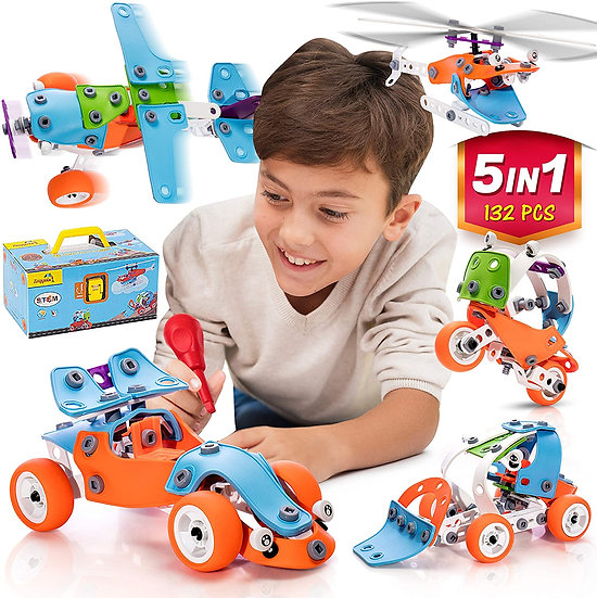 STEM Learning Toy For Boys And Girls Age 7-12 - 132 Pcs