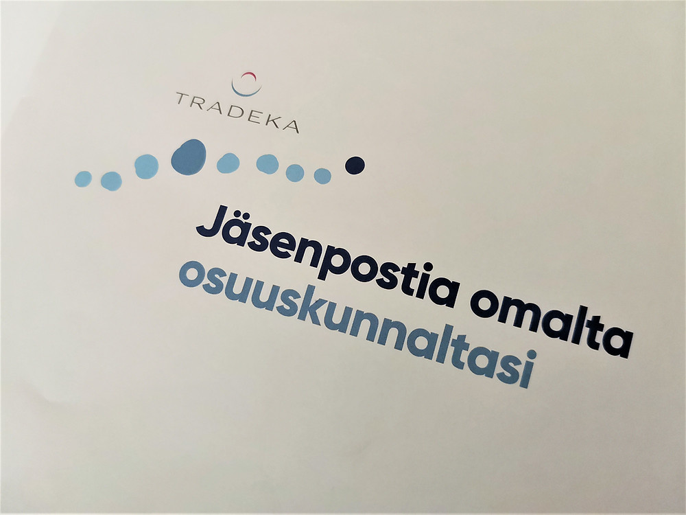Osuuskunta Tradeka lähetti jäsenpostia.
