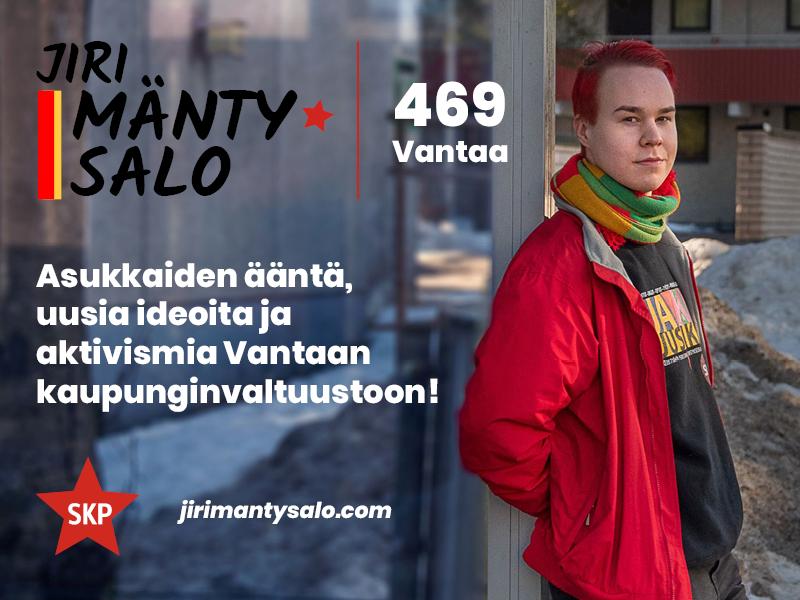 Jiri Mäntysalon vaalibannerikuva.