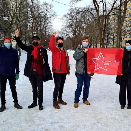 Kommunistinuorten vuosikokous: Nuorten pahoinvointiin ei vastata porvarien lääkkeillä