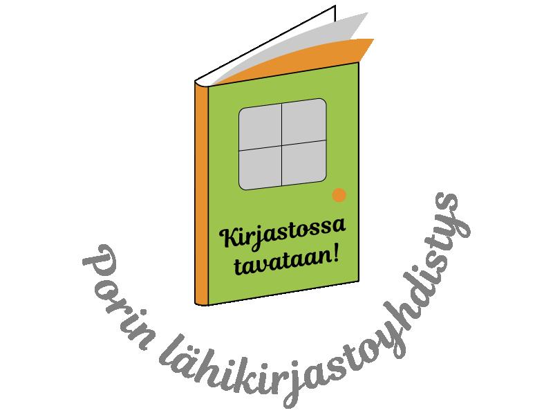 Porin lähikirjastoyhdistyksen logo.