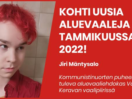 Lähden ehdolle aluevaaleihin 2022!
