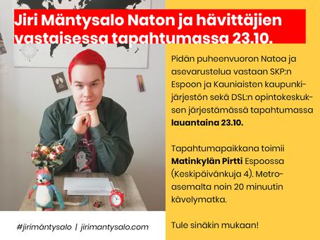 Ei Natolle - ei asevarustelulle! 23.10.
