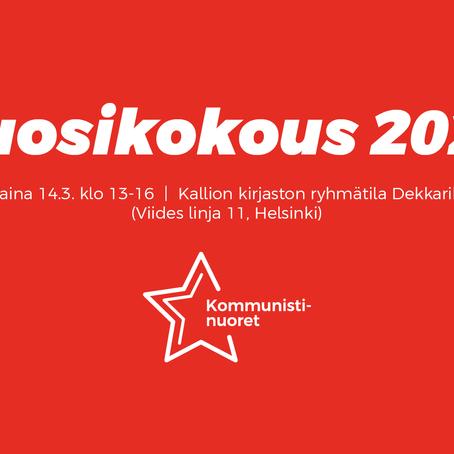 Kommunistinuorten vuosikokous: Stoppi tuhoisalle kapitalismille