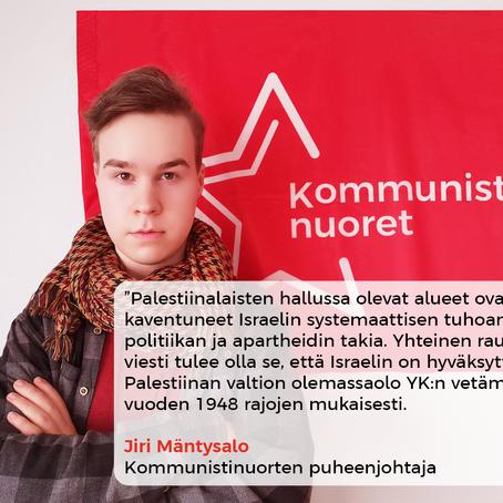 Solidaarisuutta Palestiinan kansalle