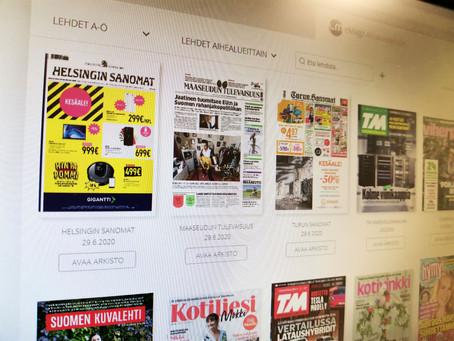 Kolmen sanomalehden eMagz-sopimus päättynyt