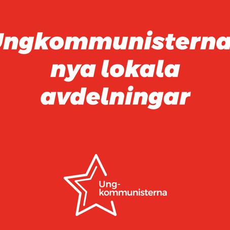 Ungkommunisternas lokala avdelningar