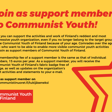 Join as support member to Communist Youth of Finland!