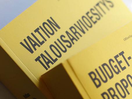 Varovaisia askeleita talousarvioesityksessä – hyvässä ja pahassa