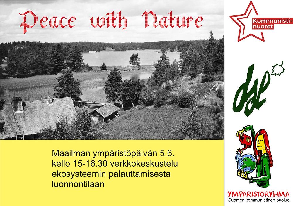 Peace with Nature -keskustelun 5.6. bannerikuva.