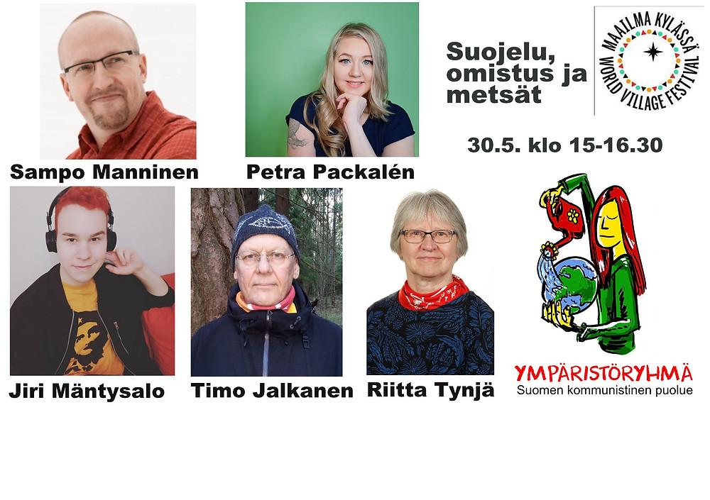 Suojelu, omistus ja metsät -keskustelun 30.5. bannerikuva.