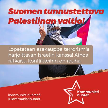 Suomen tunnustettava Palestiinan valtio – rauhanomainen ratkaisu kriisiin