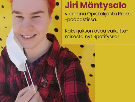 Vieraana Opiskelijasta Proksi -podcastin jaksossa