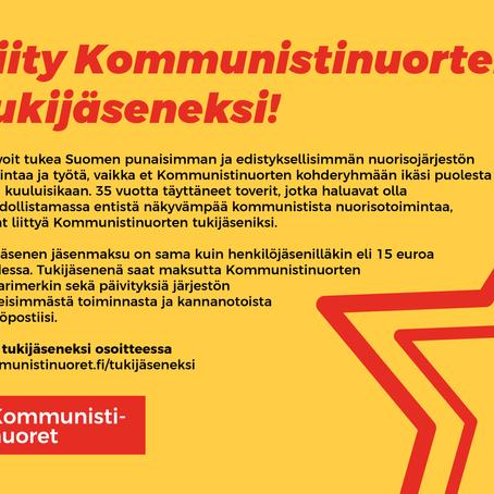 Liity Kommunistinuorten tukijäseneksi!