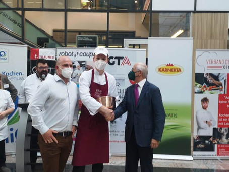 1. Preis für den Rindfleisch Kaiser geht an Tourismusschule Bergheidengasse mit Bauscher Porzellan