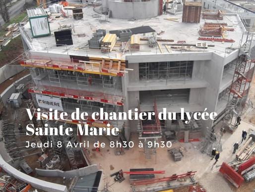 Venez visiter le chantier du futur lycée Mariste à Meyzieu !