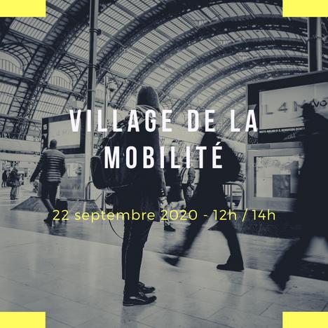 Village de la Mobilité: mardi 22 septembre 12h/14h