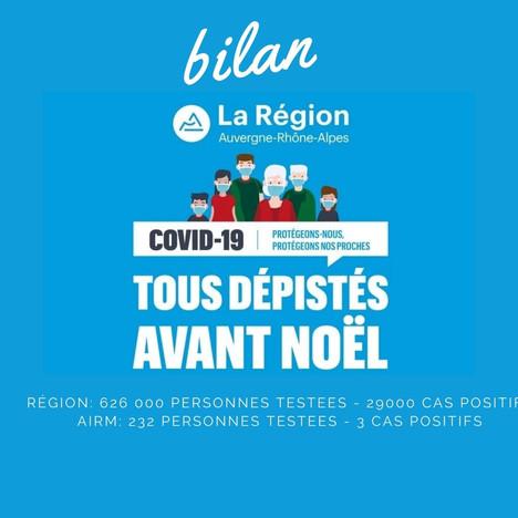 """Bilan sur la ZI de l'opération menée par la Région Rhône Alpes  """"tous dépistés avant Noël"""""""